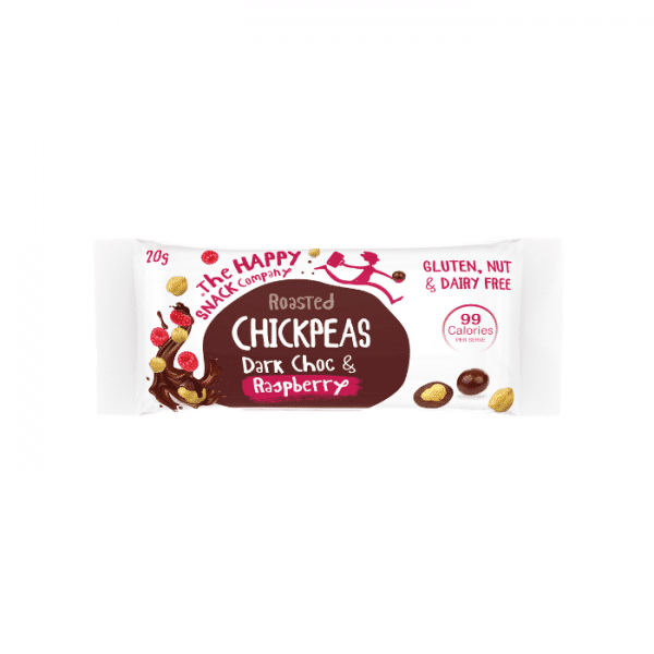 Happy Snack Roasted Chickpeas- Dark Choc Raspberry