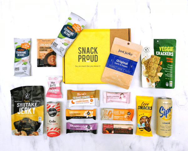 What's inside the box in Snack Proud's Keto Snack Box