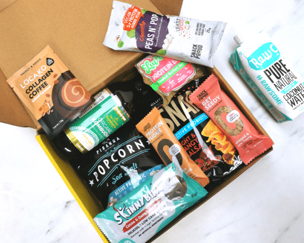What's inside the box in Snack Proud's Pick Me Up Pack