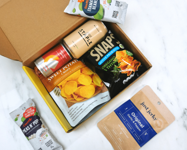 What's inside the box in Snack Proud's Virtual Drink Pack