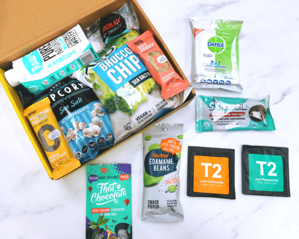 What's inside the box in Snack Proud's Return To Work Box
